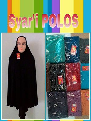 Kulakan Jilbab Syar'i Polos Harga Rp 35.000