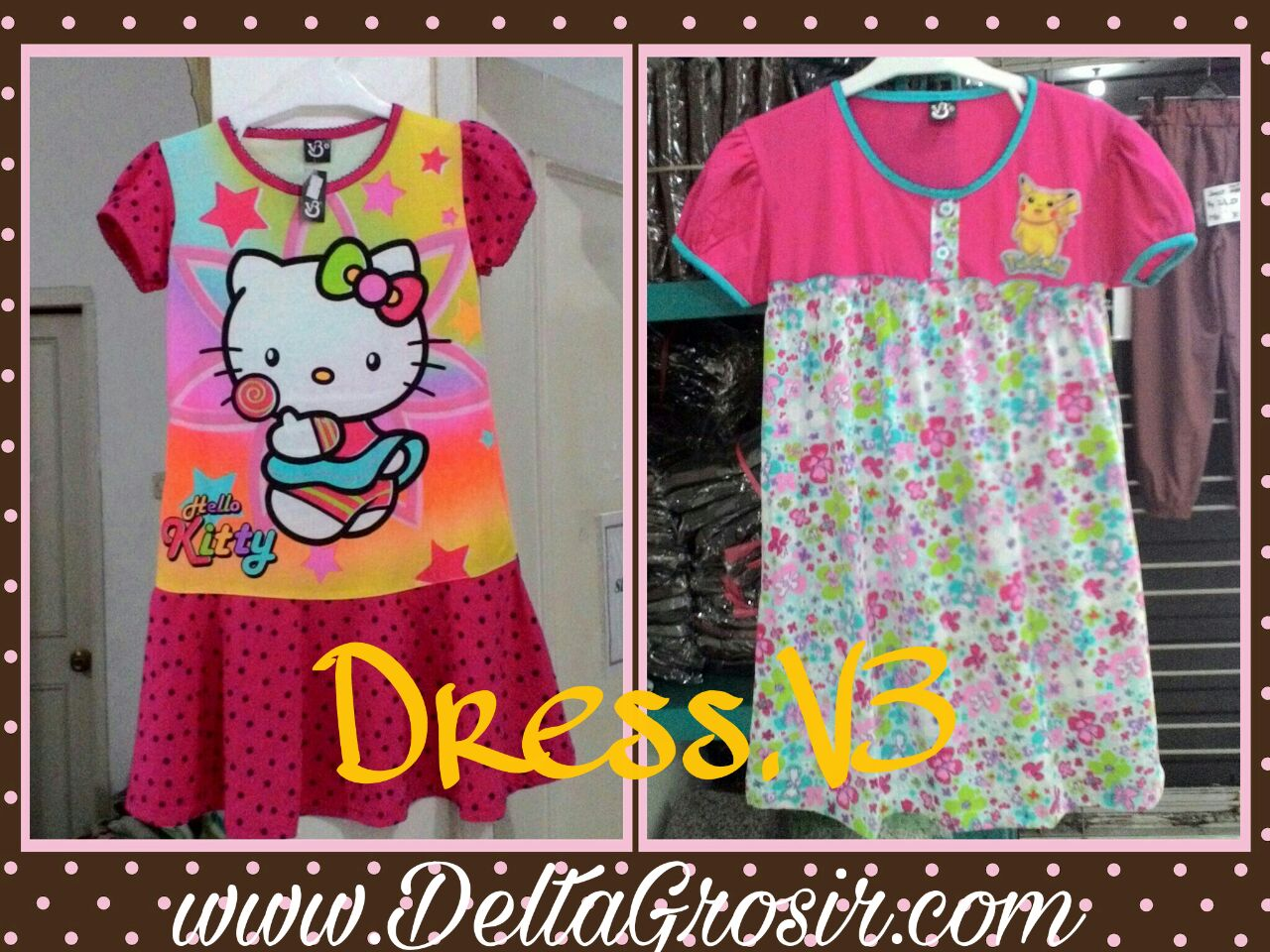 Sentra Kulakan Dress V3 Anak Karakter Termurah Mulai Rp.23.500