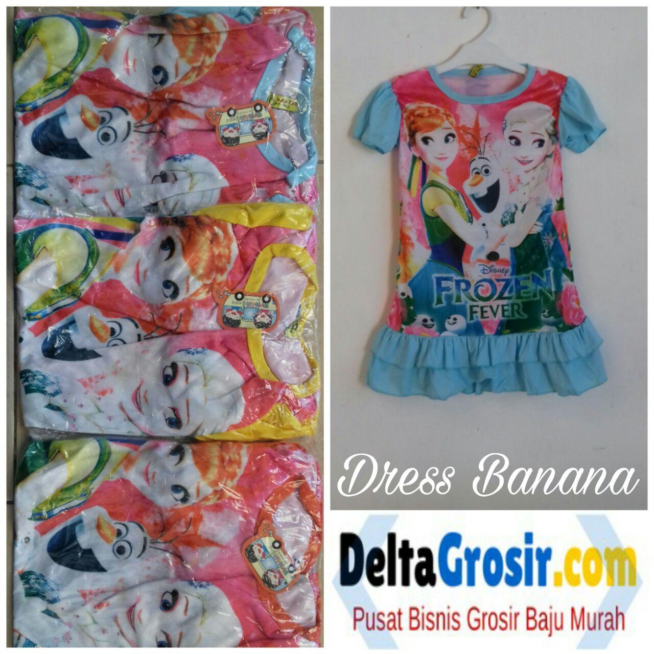 Pusat Grosiran Dress Anak Banana Karakter Disney Termurah 18Ribu