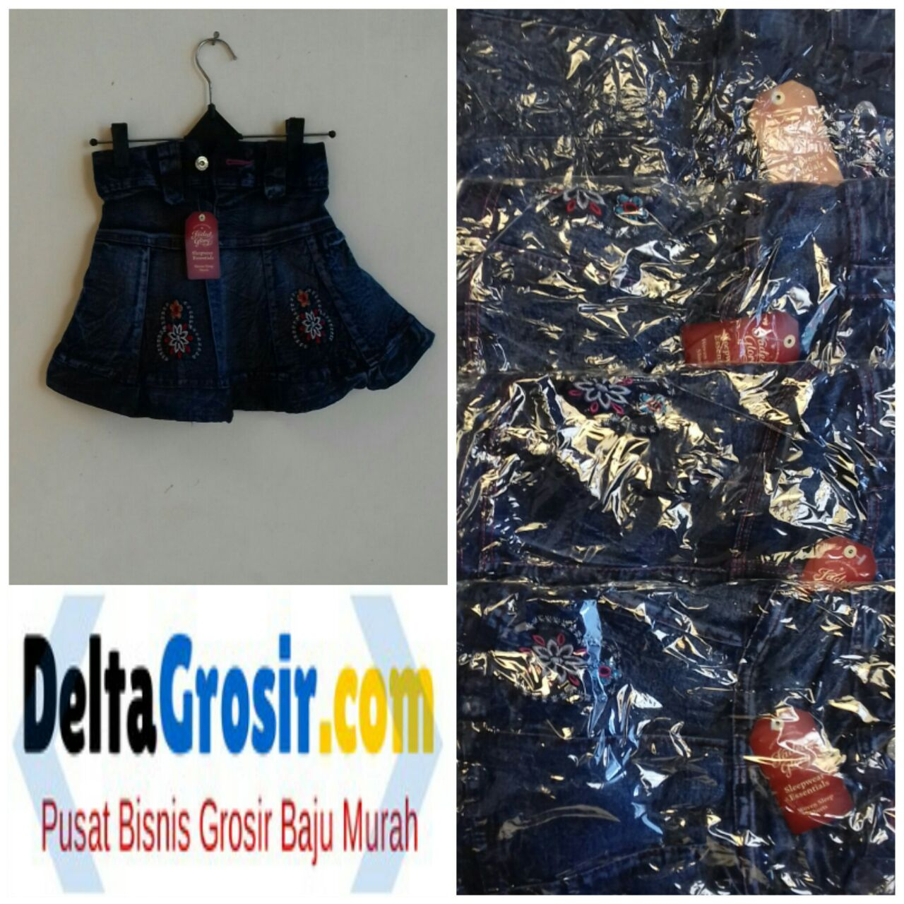 Kulakan Rok Jeans Anak Termurah Branded Surabaya 16Ribu