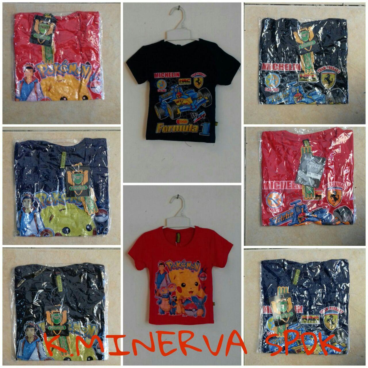 Pusat Kulakan Kaos Minerva Anak Karakter Murah