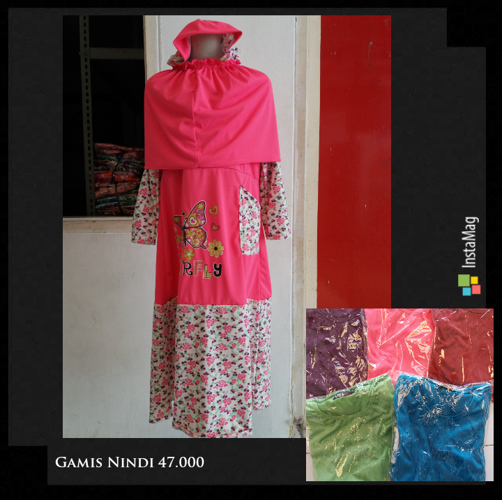 Kulakan Gamis Nindy Anak Perempuan Syari Murah 47Ribu
