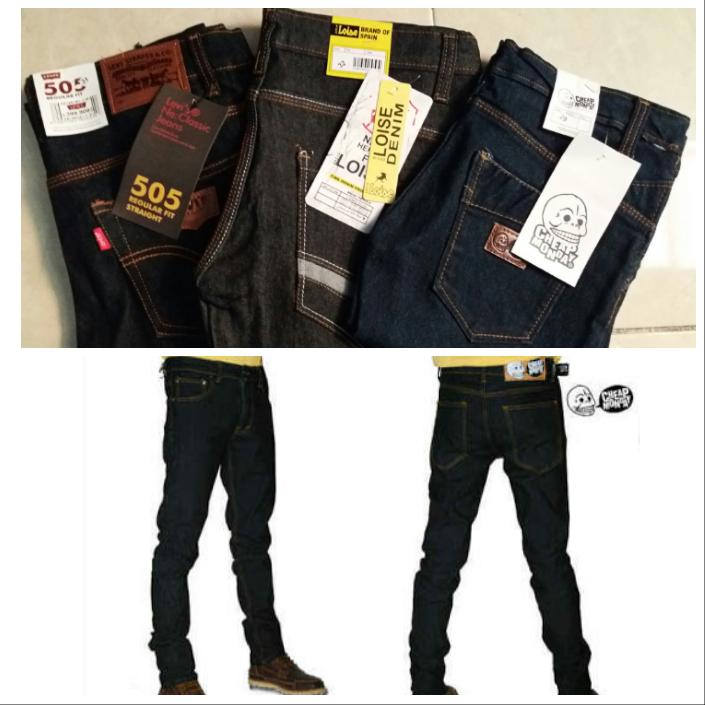 Sentra Grosir Celana Jeans Cowo Dewasa Branded Murah 60Ribu