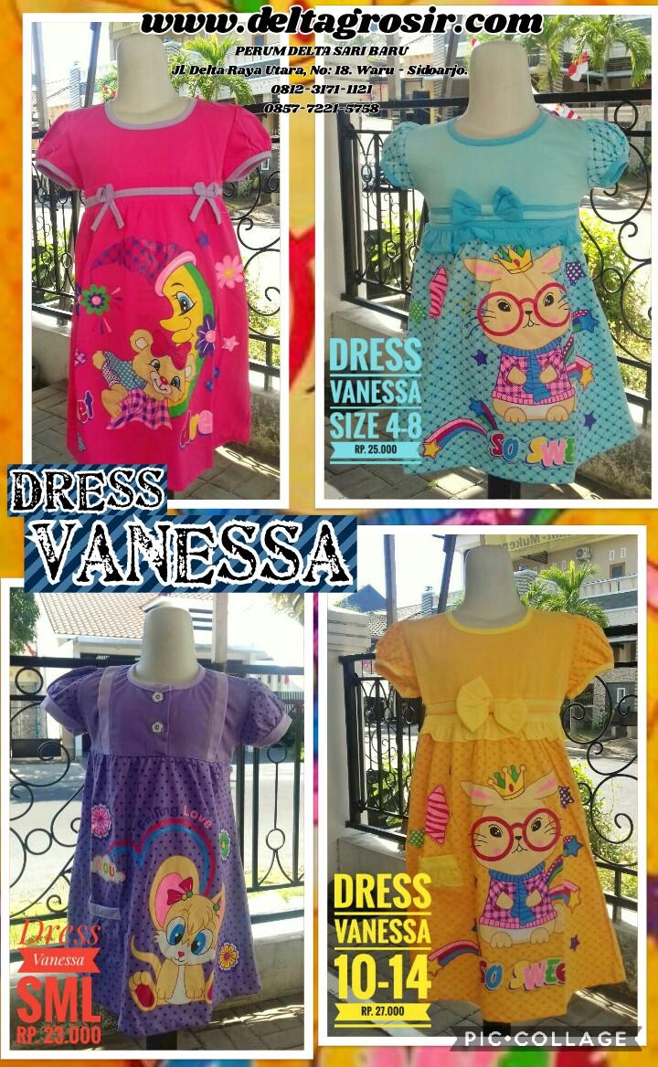 Pusat Kulakan Dress Vanessa Anak Perempuan Murah Surabaya 23Ribu