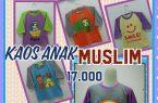 Pusat Kulakan Kaos Muslim Anak Karakter Lucu Murah