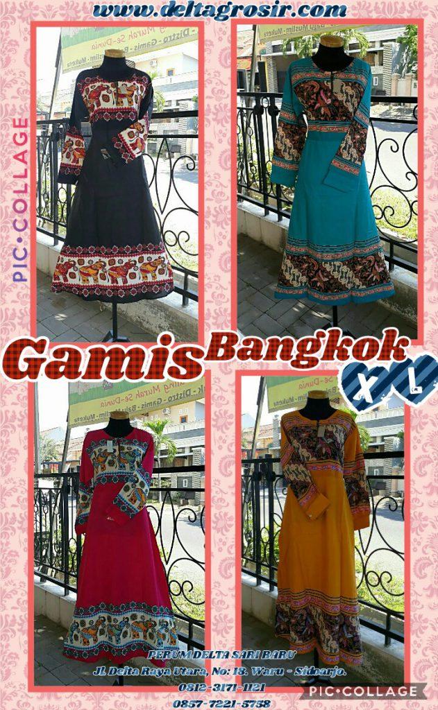 Kulakan Gamis Bangkok Size XL Syari Dewasa Murah Surabaya