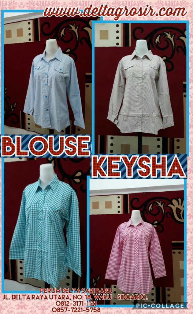 Pusat Kulakan Blouse Keysa Wanita Dewasa Murah Surabaya