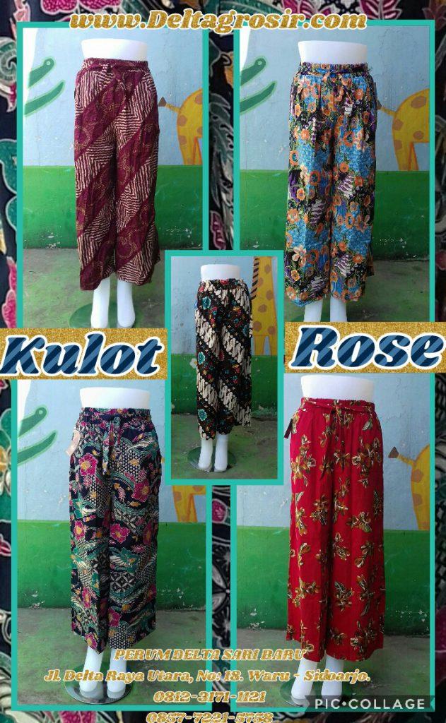 Pusat Kulakan Celana Kulot Rose Dewasa Murah Surabaya