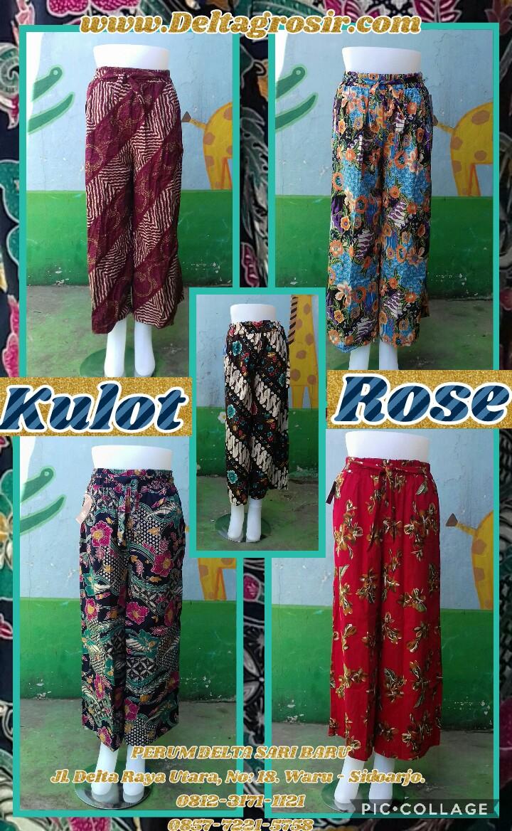 Kulakan Celana Kulot Rose Dewasa Murah Surabaya 34Ribu