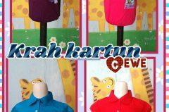 Pusat Kulakan Kaos Krah Kartun Anak Perempuan Murah