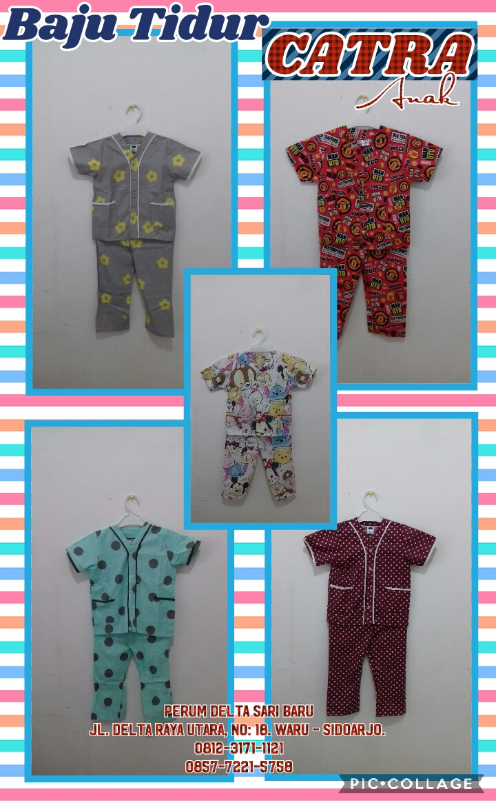 Sentra Kulakan Baju Tidur Catra Anak Murah 25ribuan Tunik