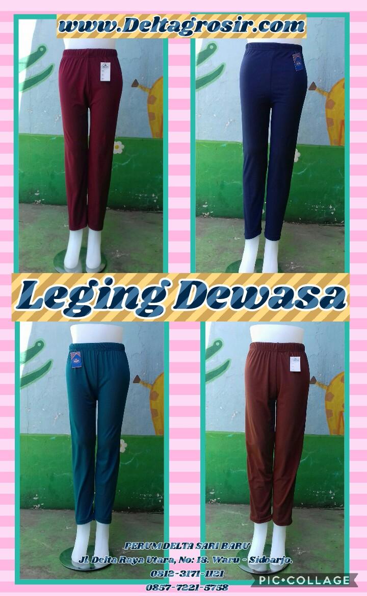 Sentra Kulakan Legging Polos Dewasa Murah Surabaya 19Ribu