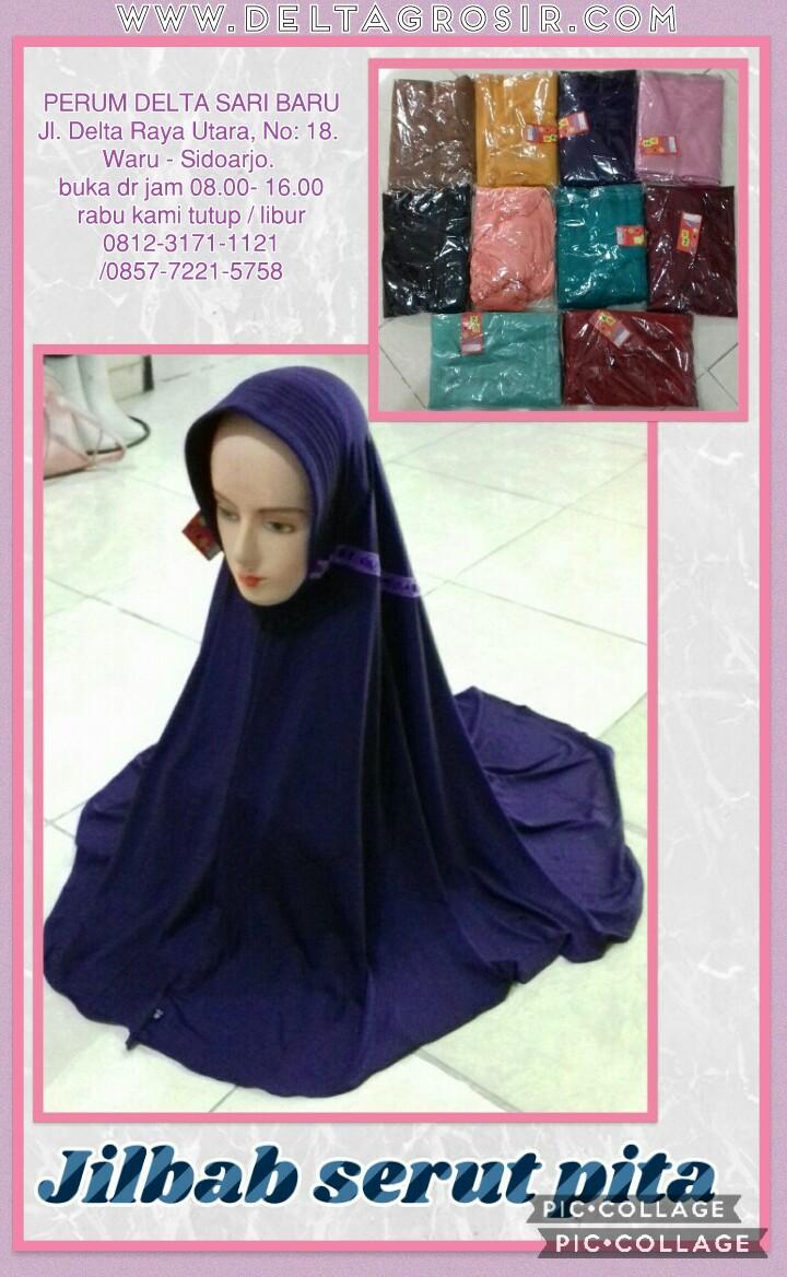 Distributor Jilbab Serut Pita Dewasa Termurah Surabaya 19Ribu