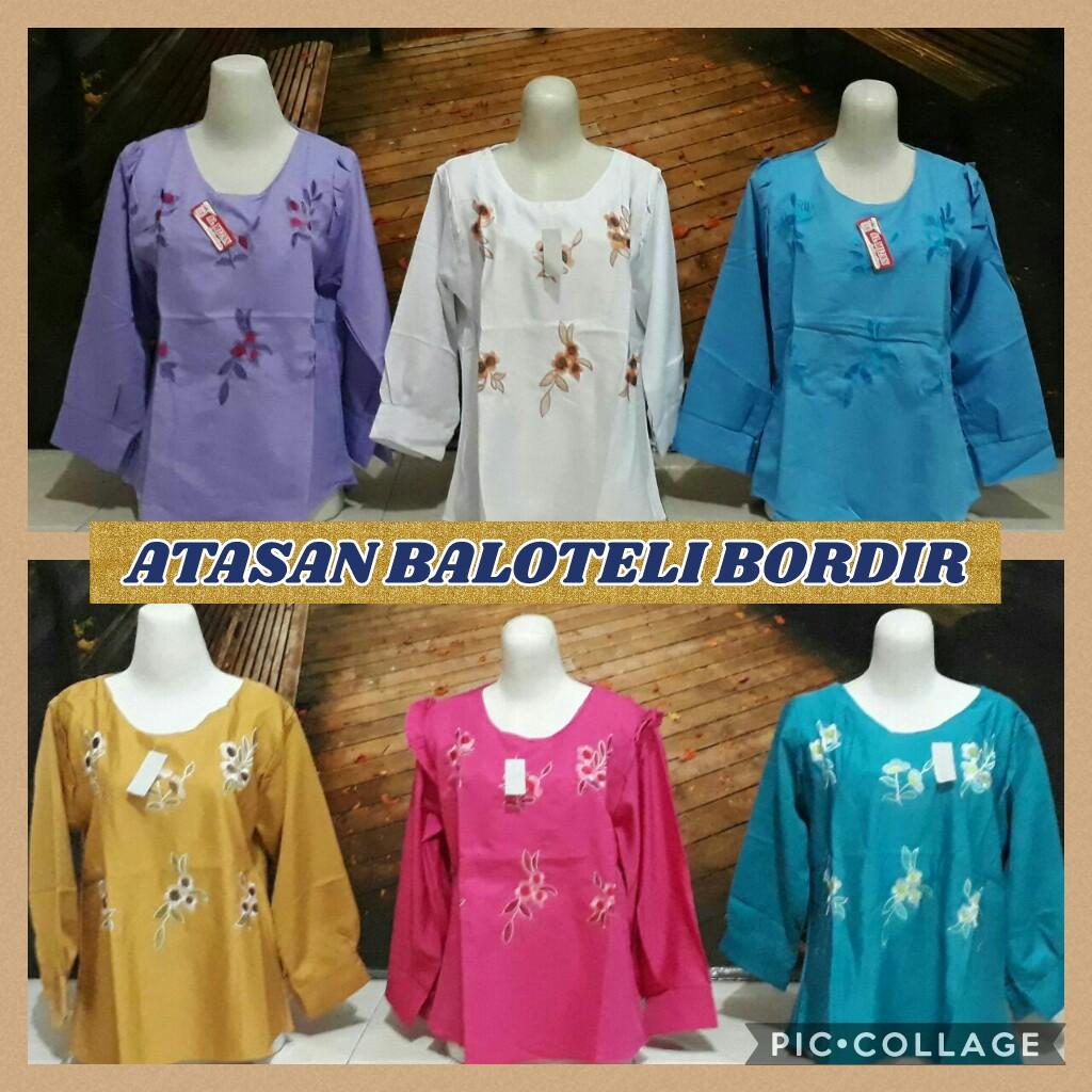 Distributor Baju Atasan Balotelli Bordir Wanita Murah Surabaya 32ribu