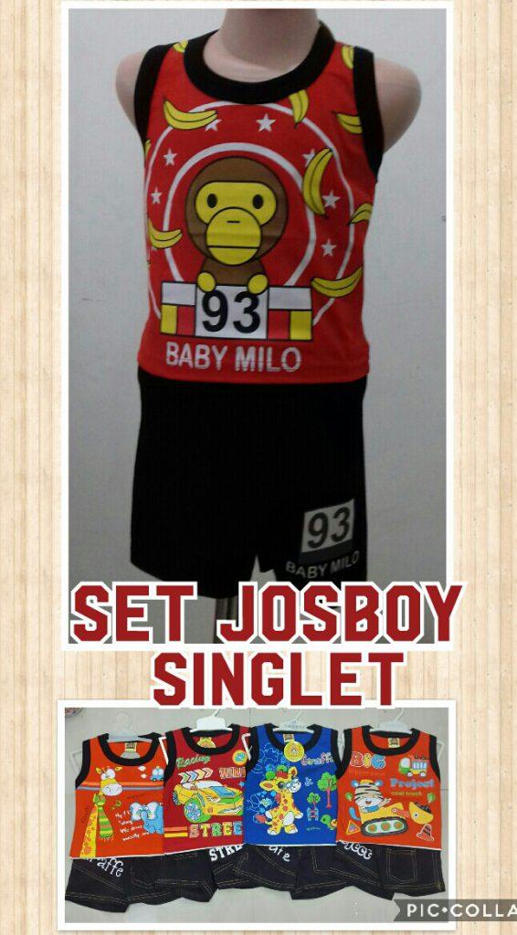 Supplier Setelan Singlet Josboy Anak Laki Laki Murah