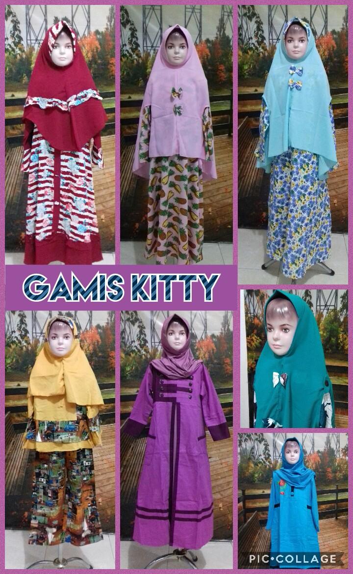 Distributor Gamis Kitty Anak Perempuan Syar'i Murah Surabaya 76Ribu