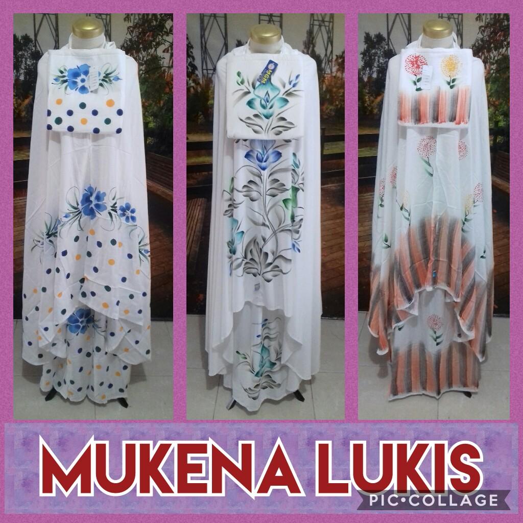 Distributor Mukena Bali Lukis Dewasa Murah Surabaya 75Ribu