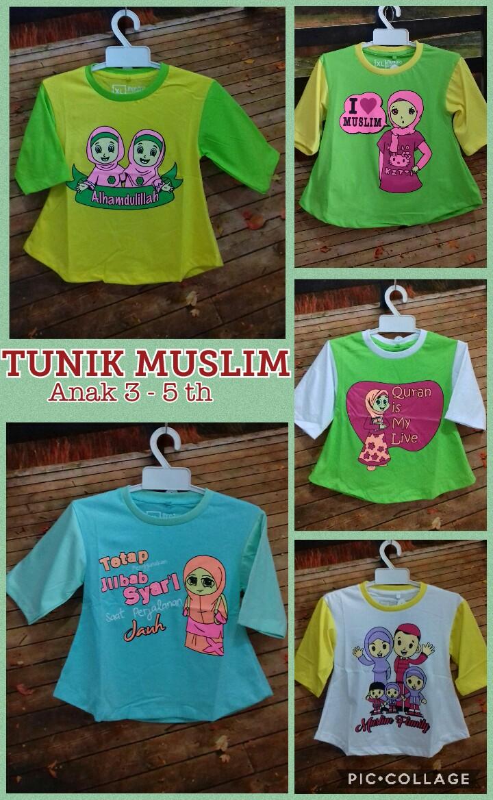 Produsen Kaos Tunik Muslim 3-5 th Murah Surabaya 20ribuan