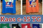 Distributor Kaos c-15 TG Murah Surabaya 16ribuan