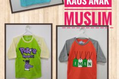 Grosir Kaos Muslim Anak Murah 17ribuan