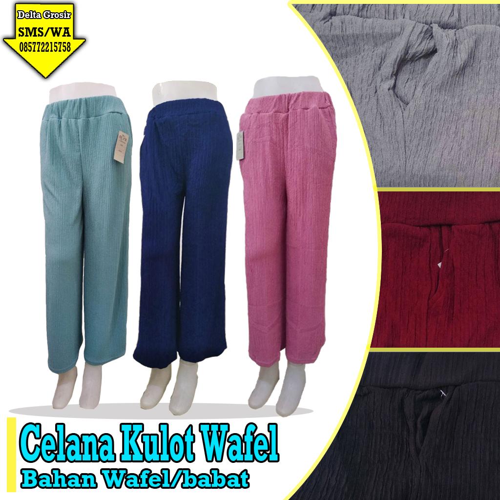 Pabrik Celana Kulot Wafle Murah 31ribuan