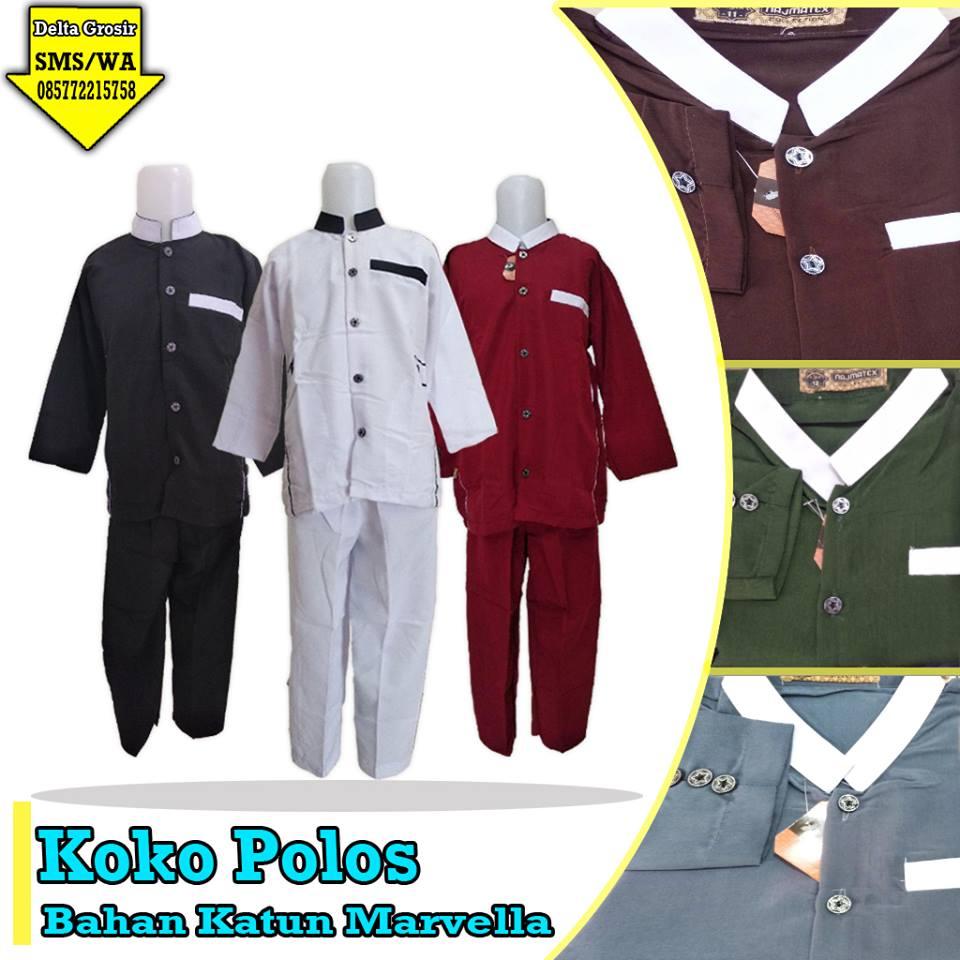 Pusat Grosir Koko Polos Anak Murah 55ribuan