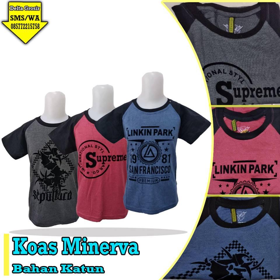 Pusat Kulakan Kaos Minerva Anak Murah 15ribuan