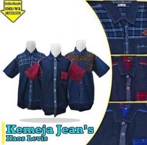 kemeja anak bahan jeans