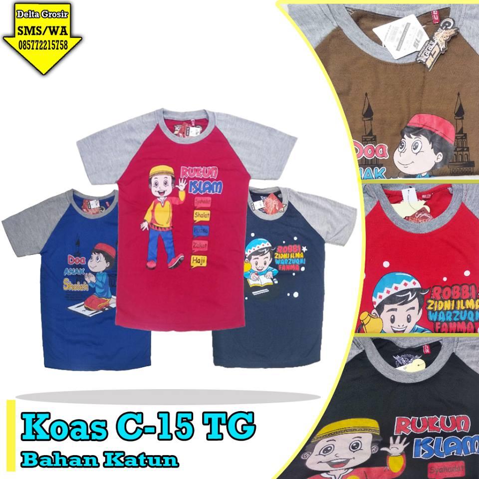 Distributor Kaos C-15 Tanggung Anak Murah