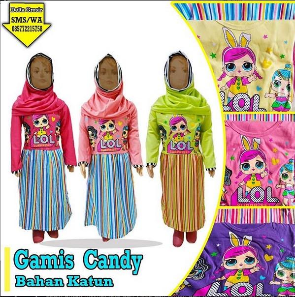 Grosir Gamis Candy Anak Murah di Surabaya