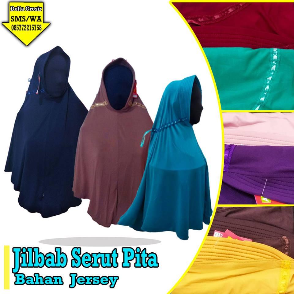 Pusat Kulakan Jilbab Serut Pita Dewasa Murah 22ribuan