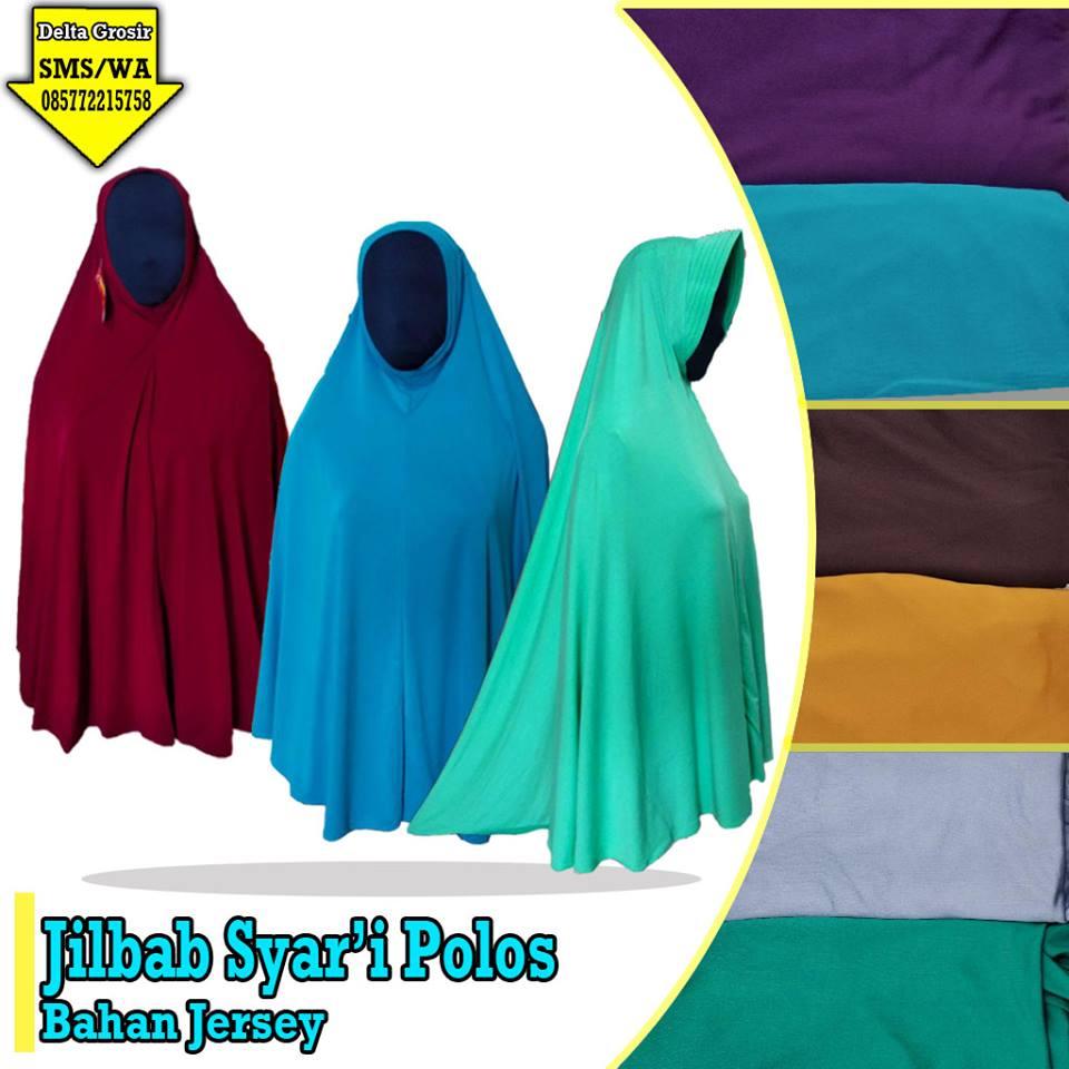Supplier Jilbab Syar'i Polos Dewasa Murah 28ribuan