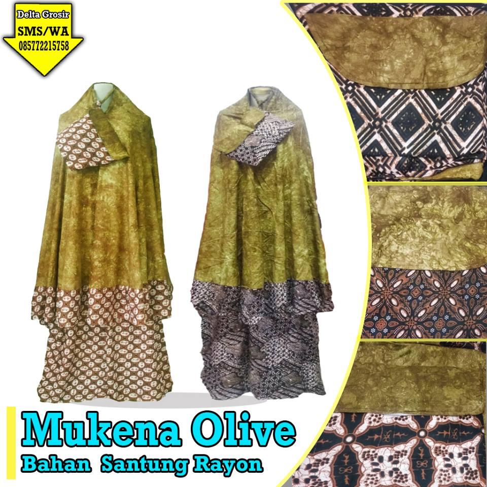 Konveksi Mukena Olive Dewasa murah 90ribuan