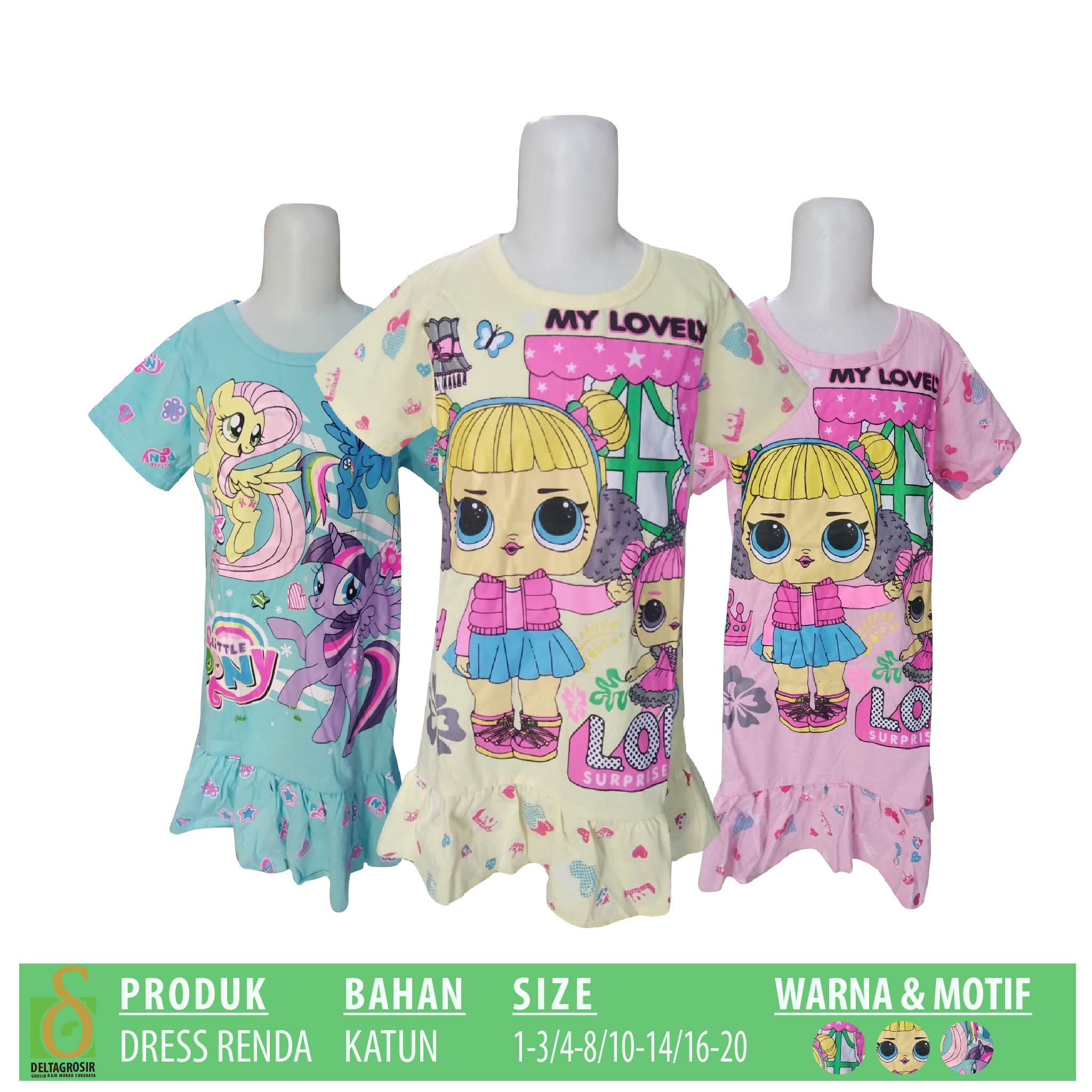 Distributor Dress Renda Anak Murah 19ribuan