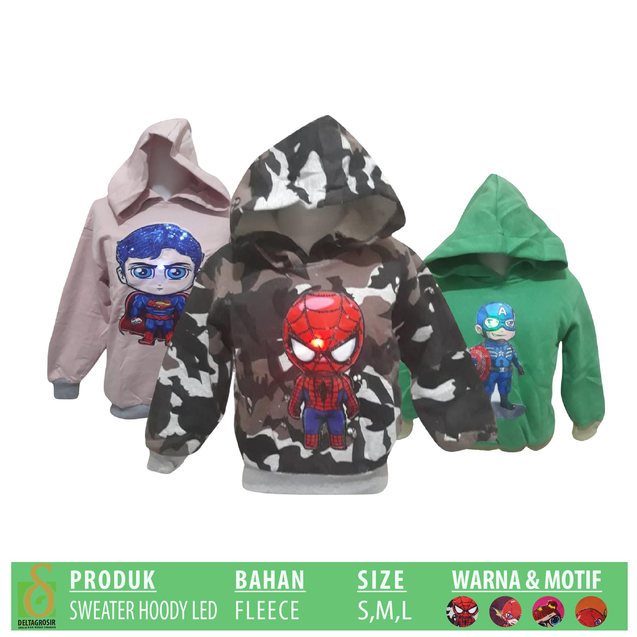 Supplier Sweater Hoody LED Anak Murah 31ribuan