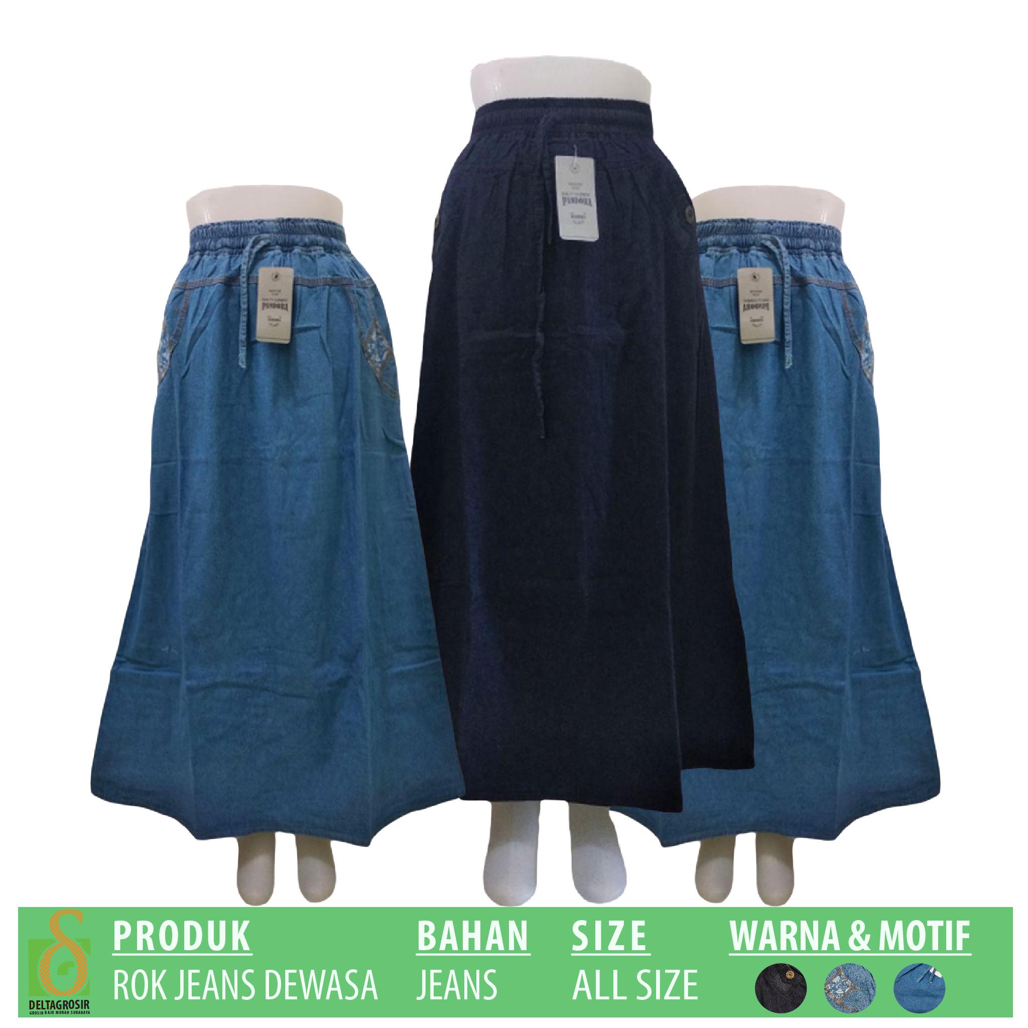 Supplier Rok Jeans Dewasa Murah 51ribuan