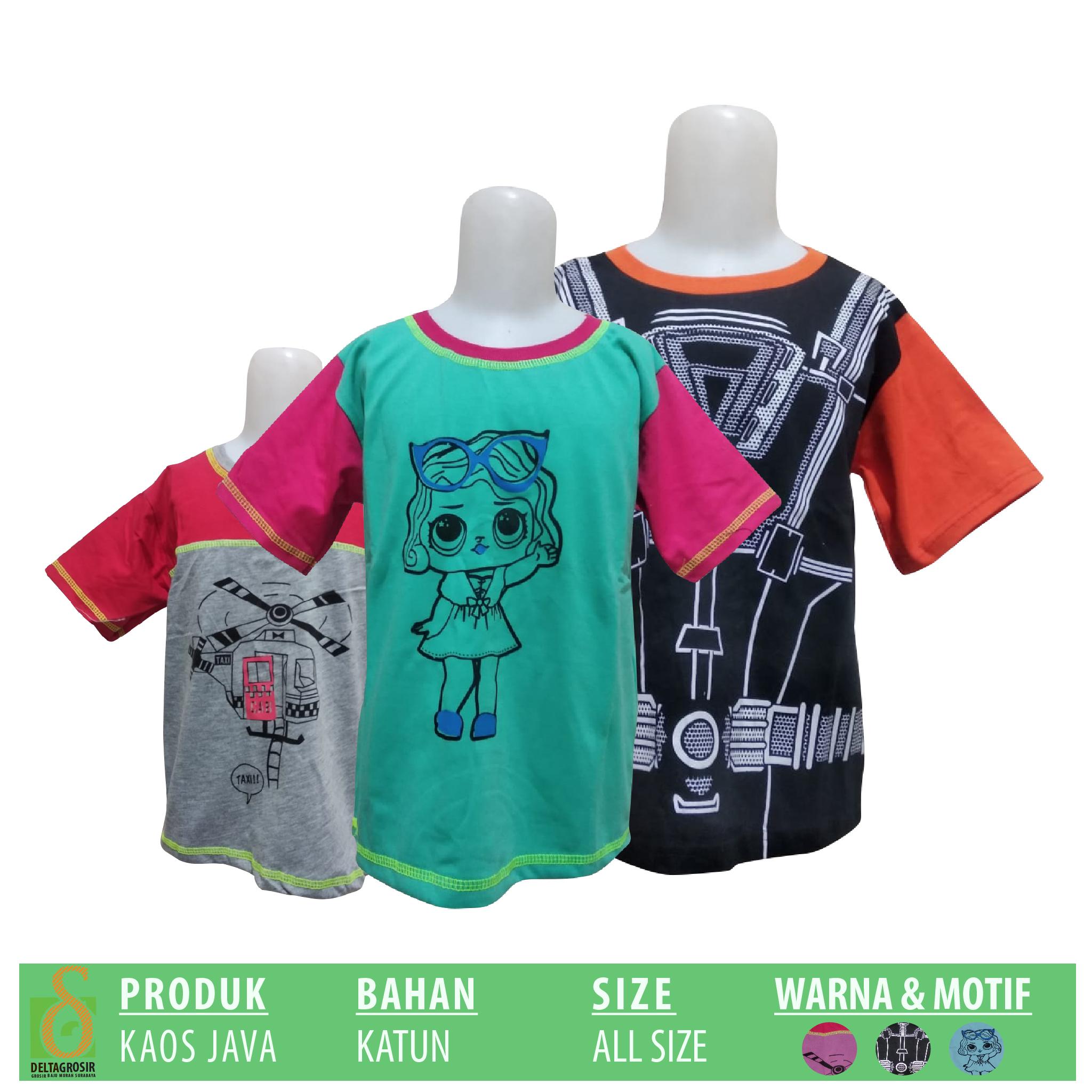 Pabrik Kaos Java Anak Murah 8ribuan